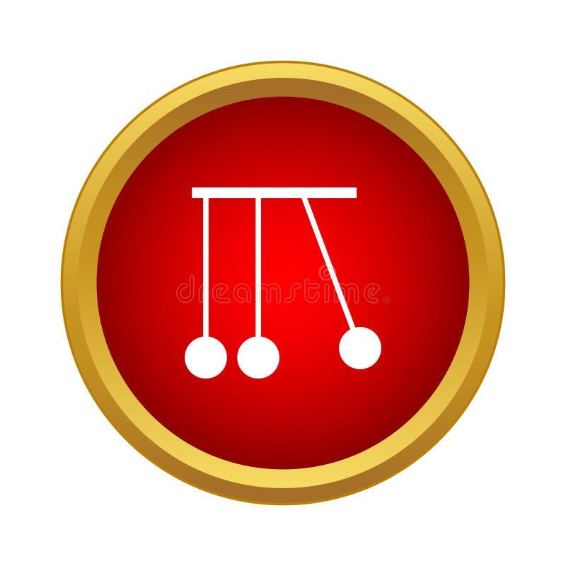Pendulum of Newton icon, simple style stock illustration