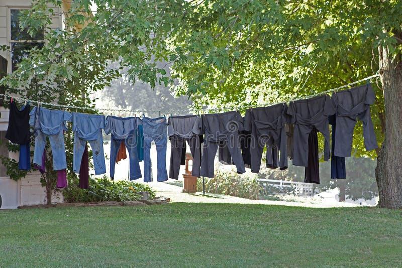 Pendurado para fora para secar foto de stock