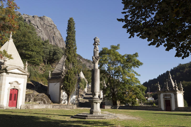 Peneda Sanctuary of Our Lady stock photography