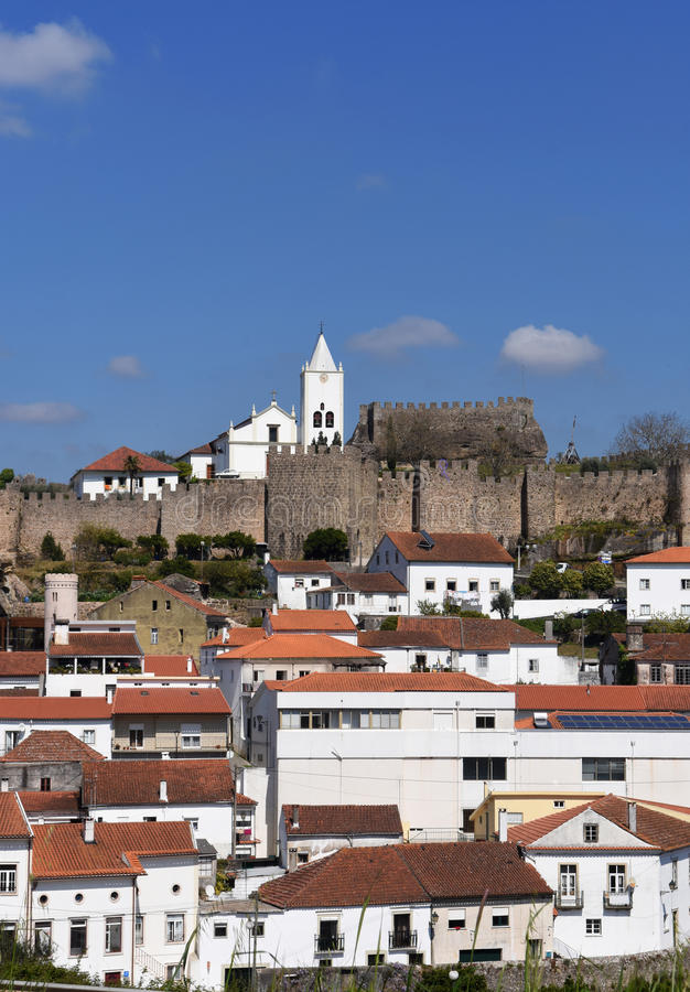 Penela. Castle and village of Penela, Beiras region, Portugal royalty free stock photo