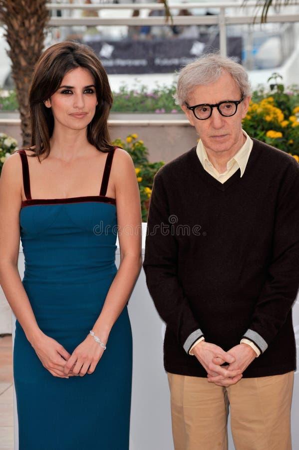 Penelope Cruz, Woody Allen fotografie stock
