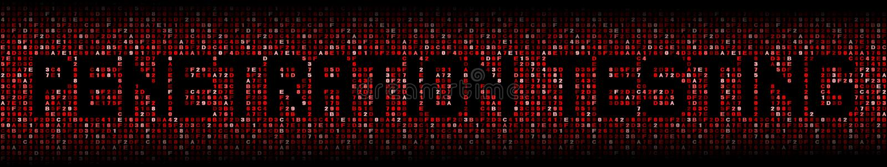 Penetration Testing text on hex illustration stock photos