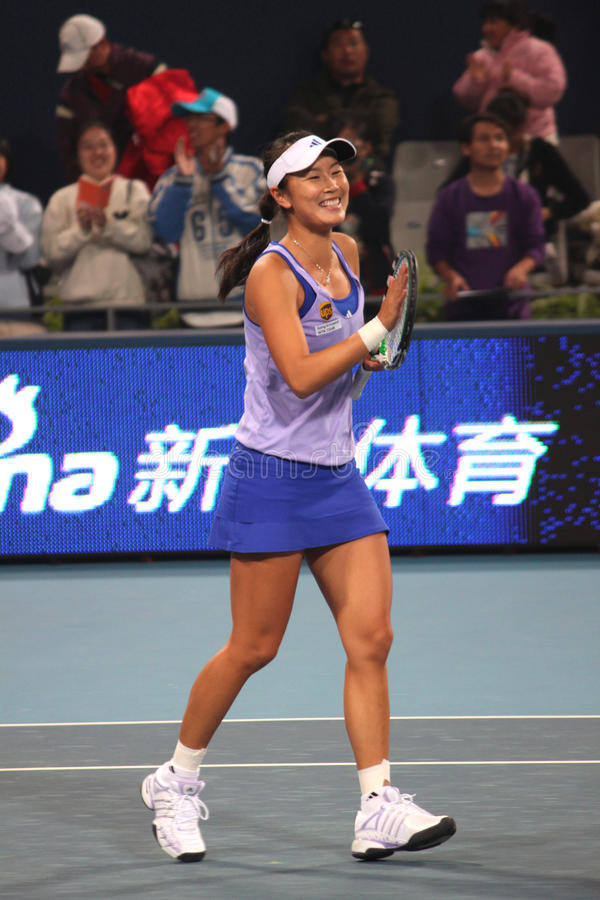 Peng Shuai (Chine) chez la Chine ouvrent 2009 photo libre de droits