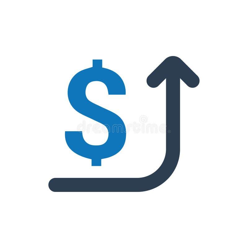 Pengar debiterad symbol royaltyfri illustrationer