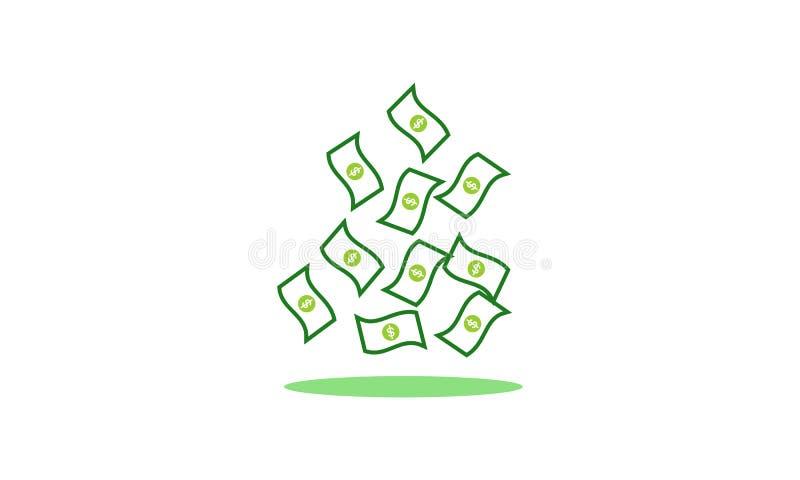 Pengar dollarlogovektor royaltyfri illustrationer