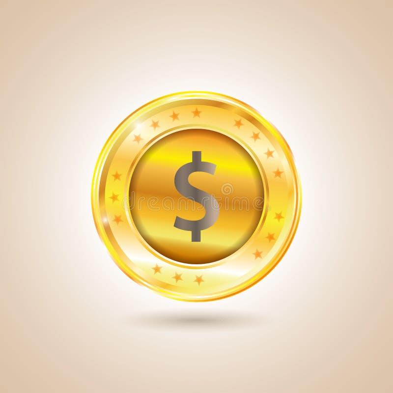 Pengar - dollarmynt också vektor för coreldrawillustration royaltyfri illustrationer