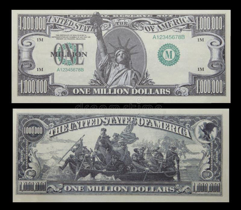 Pengar En För Billdollar Miljon Arkivfoto