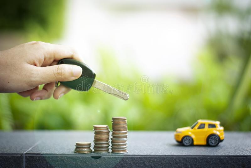 Pengar för design för billån för att köpa en hem- eller affärsinvesteringslån arkivfoton