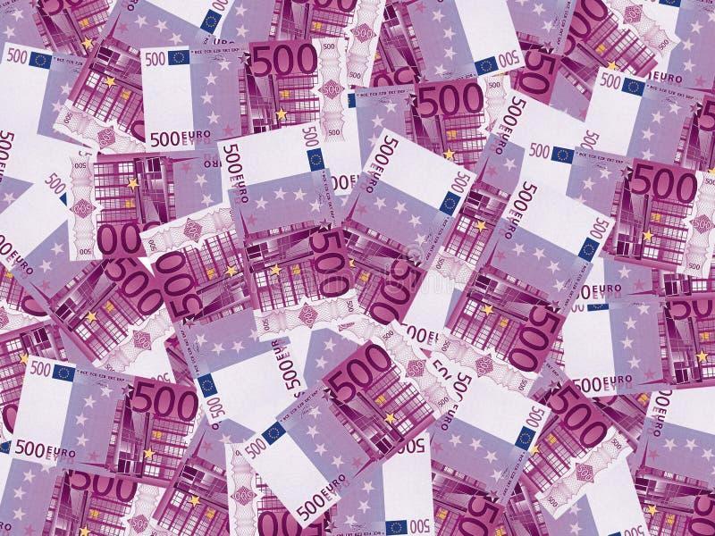 pengar för euro 500 royaltyfria bilder