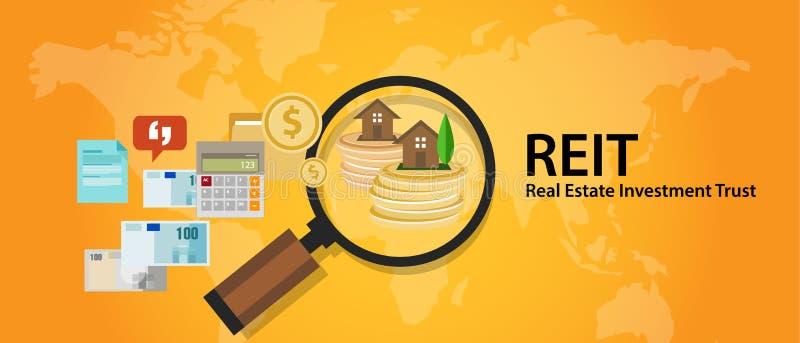 Pengar för REIT fastighetsinvesteringförtroende för hem- finanstransaktion royaltyfri illustrationer