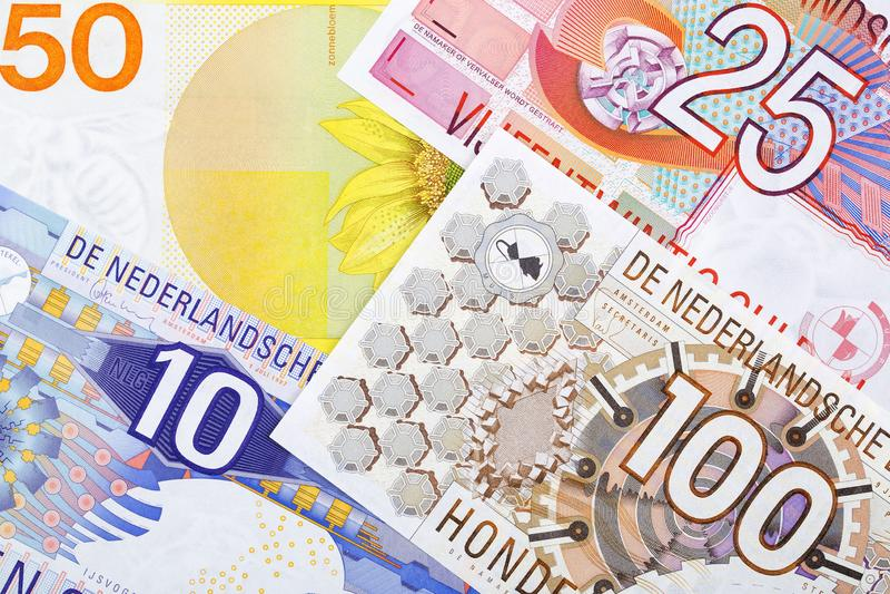 Pengar från Nederländerna, en bakgrund arkivbild