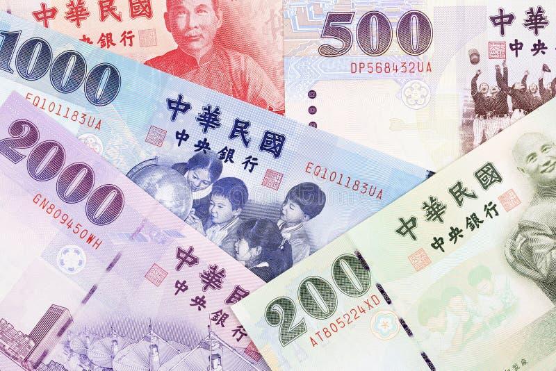 Pengar från Taiwan, en bakgrund arkivbilder