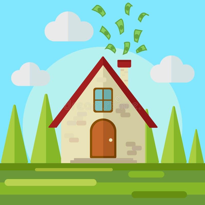 Pengar går att returnera framlänges utformar vektorn vektor illustrationer