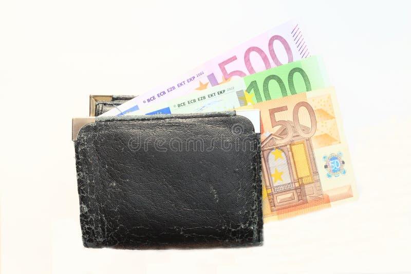 Pengar hänger lös arkivbild