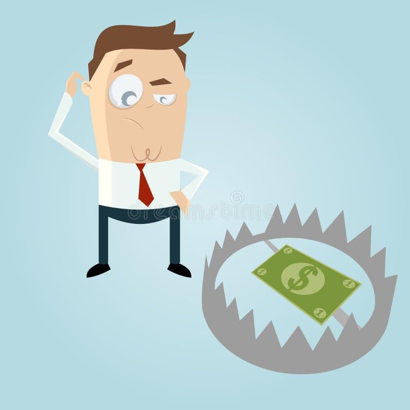 Pengar i en fälla stock illustrationer