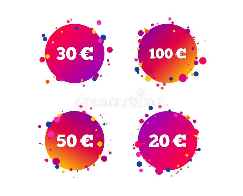 Pengar i eurosymboler Hundra femtio EUR vektor stock illustrationer