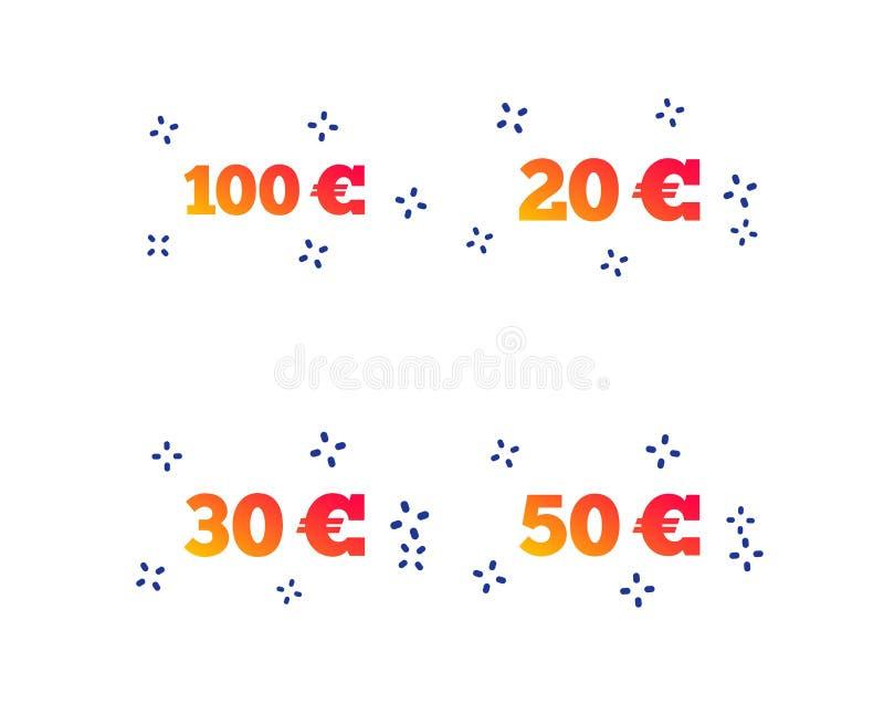 Pengar i eurosymboler Hundra femtio EUR vektor royaltyfri illustrationer