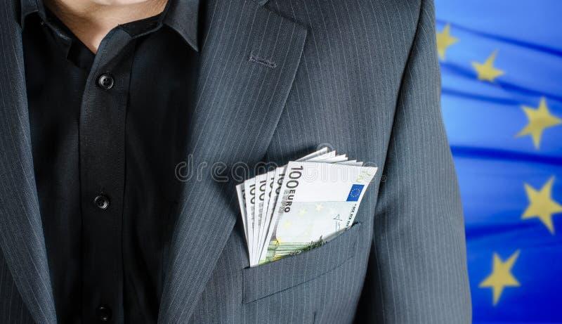 Pengar i paket royaltyfri fotografi