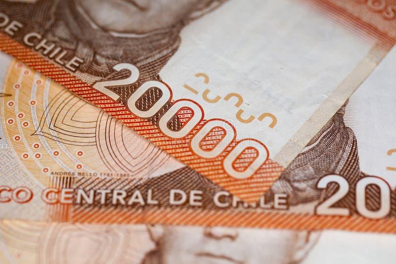 Pengar kommer från chilen fotografering för bildbyråer