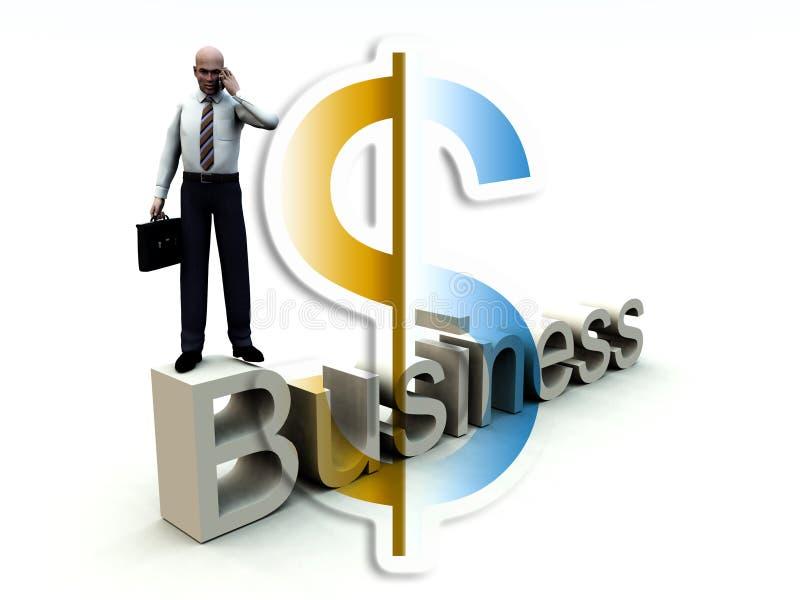 Pengar och affärsman på ord 42 royaltyfri illustrationer