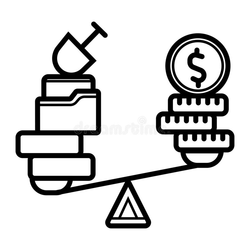 Pengar- och husv?gsymbol Dollarmynt och husj stock illustrationer