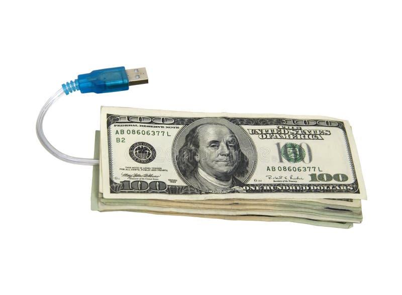 pengar online arkivbilder