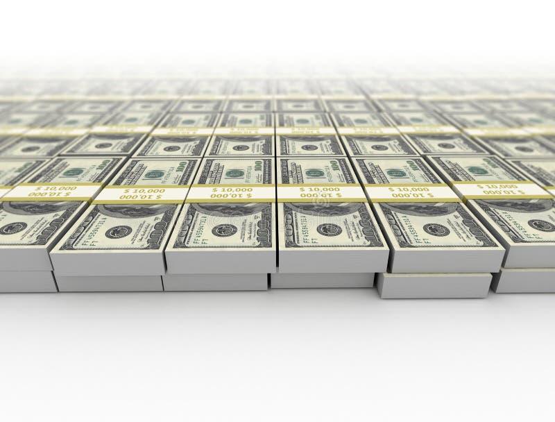 Pengar oss dollarbakgrund royaltyfri illustrationer