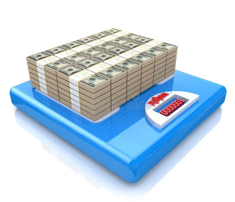 Pengar på fjäll stock illustrationer