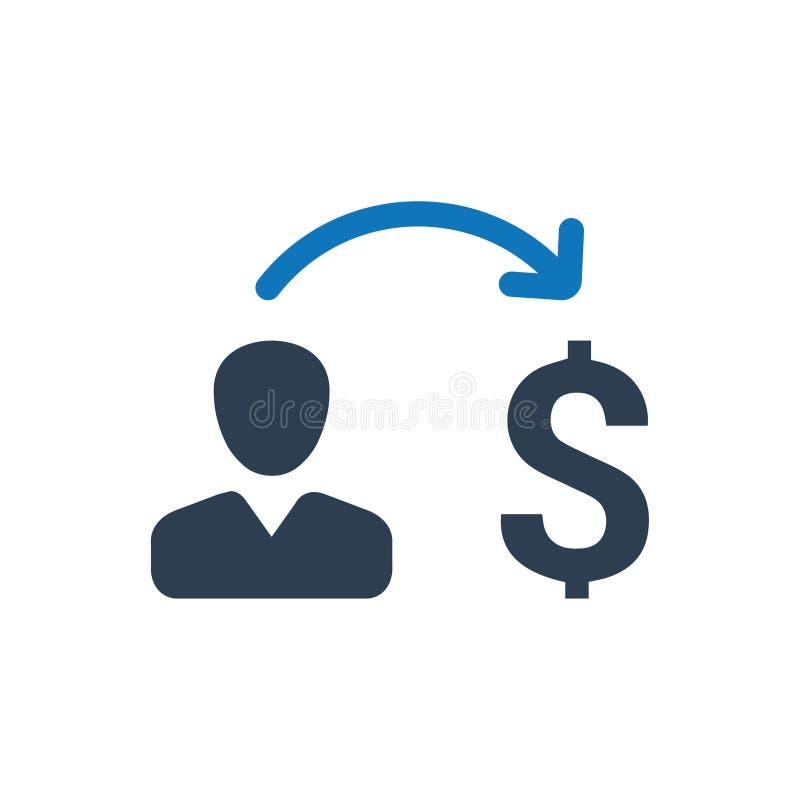 Pengar som överför symbolen vektor illustrationer
