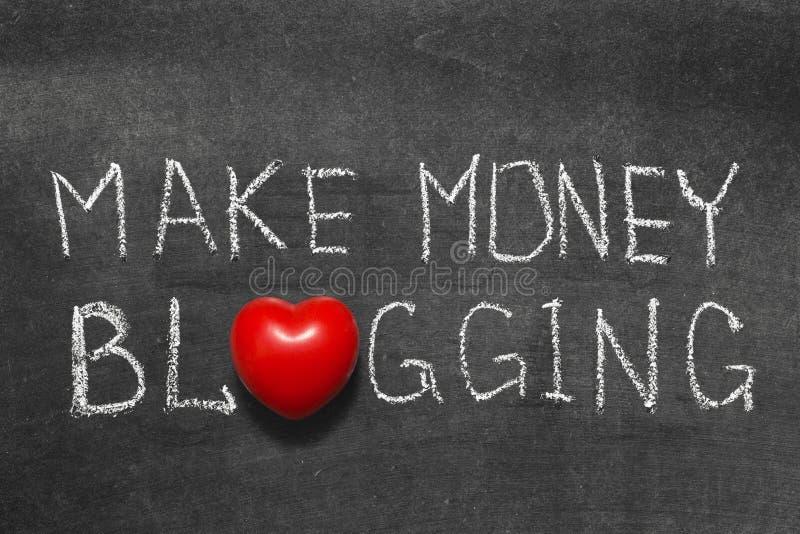 Pengar som blogging arkivbild