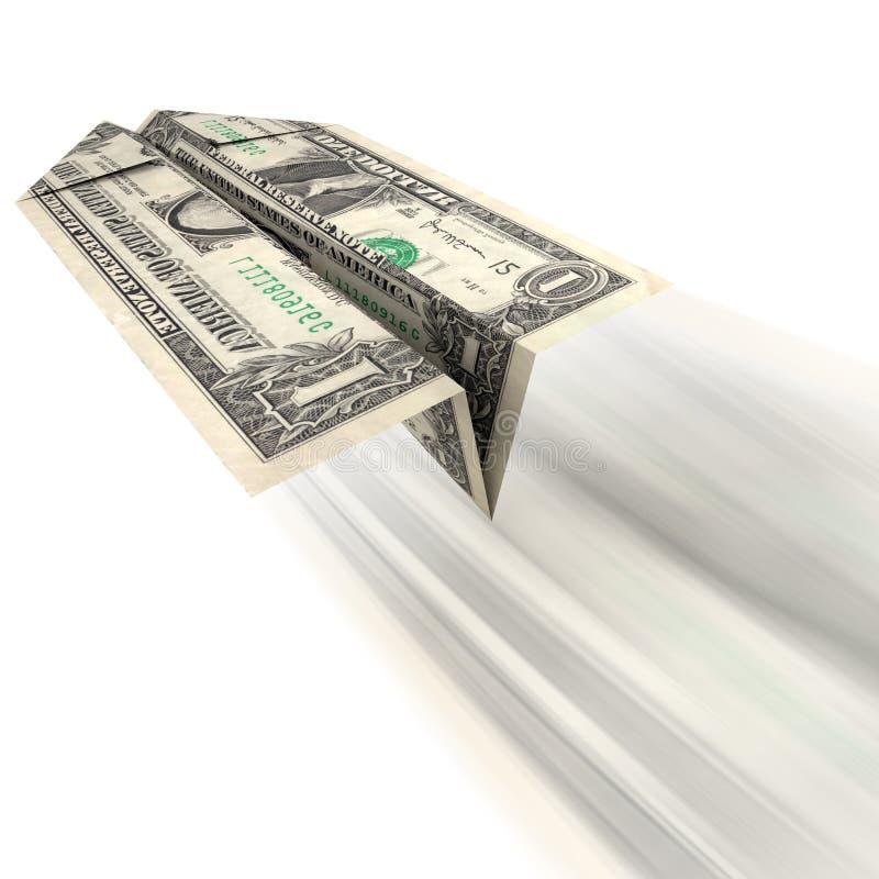 Pengar som bort får royaltyfri illustrationer
