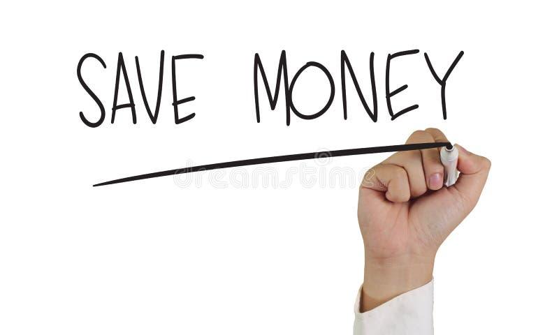 pengar sparar arkivbild