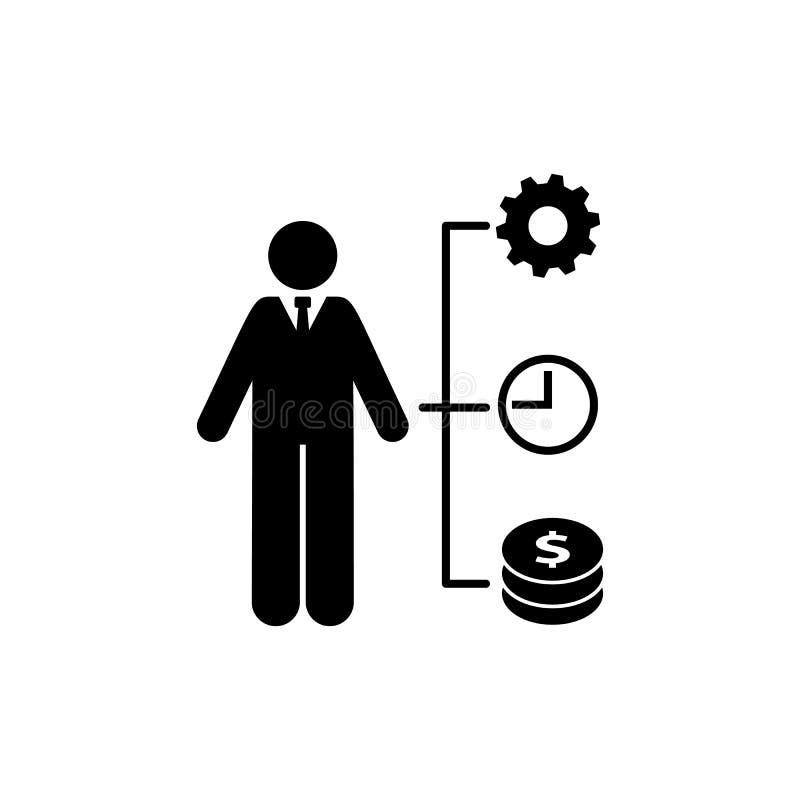 Pengar tid, universal, affärsmansymbol Best?ndsdel av aff?rsmansymbolen H?gv?rdig kvalitets- symbol f?r grafisk design underteckn stock illustrationer