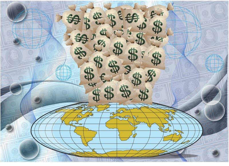 pengar under världen royaltyfri bild