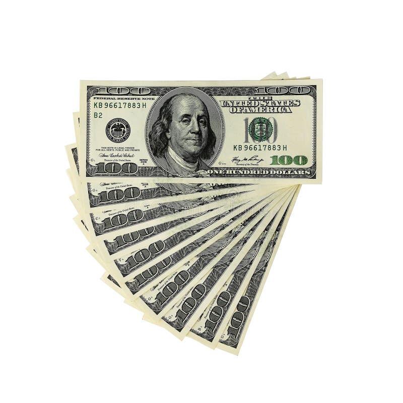 Pengar - USD - tusen dollar fotografering för bildbyråer