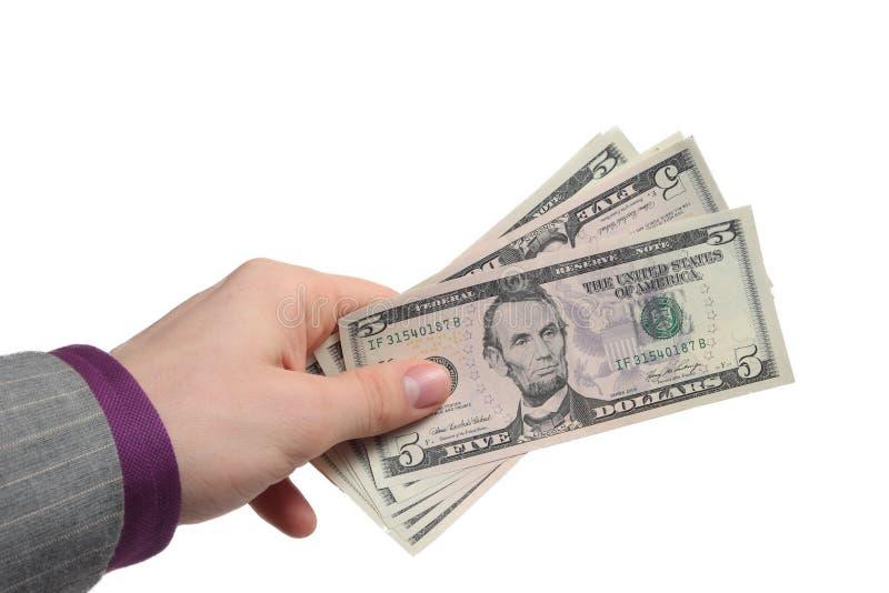 pengarbetalning royaltyfri foto