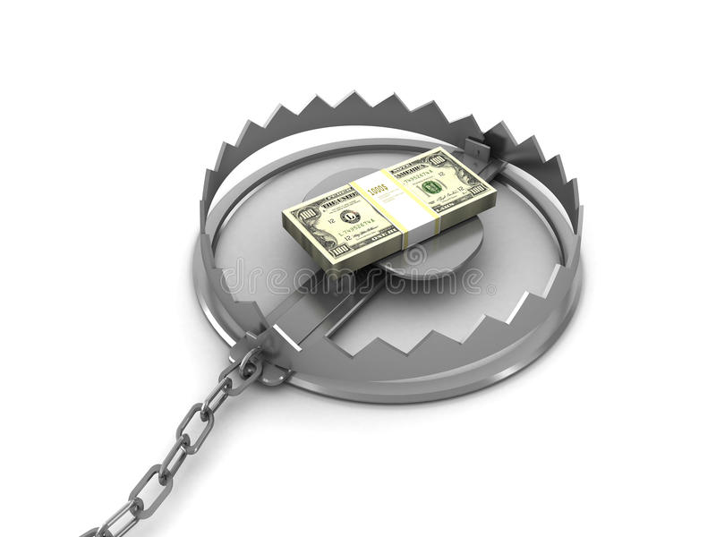 pengarblockering stock illustrationer