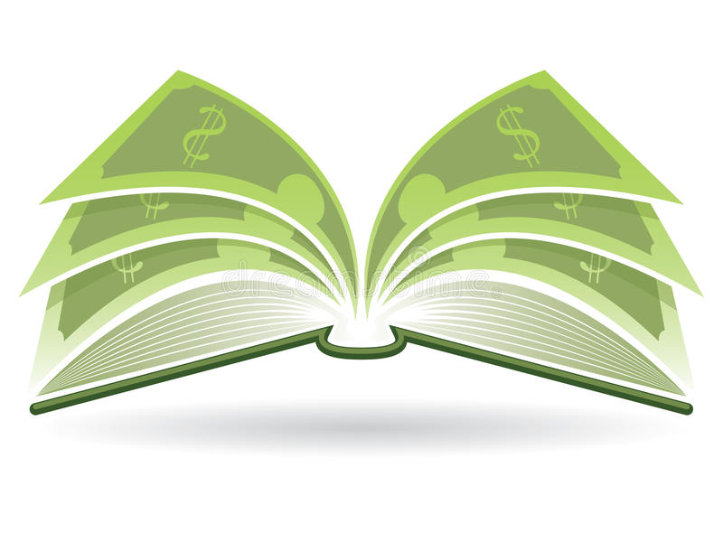 Pengarbok vektor illustrationer