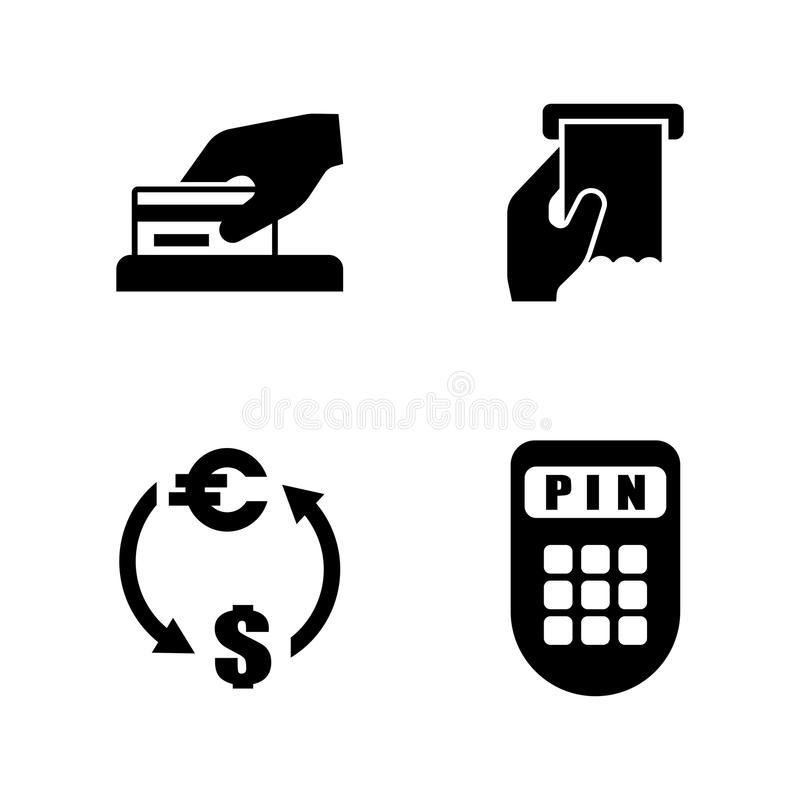 Pengardanande Enkla släkta vektorsymboler vektor illustrationer