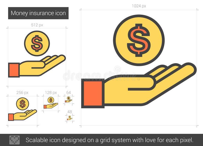 Pengarförsäkringlinje symbol stock illustrationer