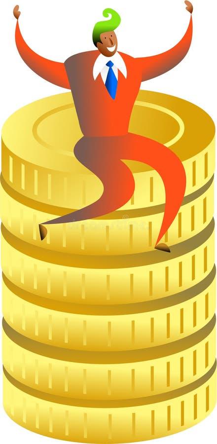 pengarframgång vektor illustrationer