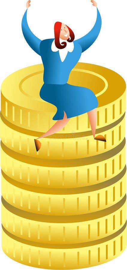 pengarframgång royaltyfri illustrationer
