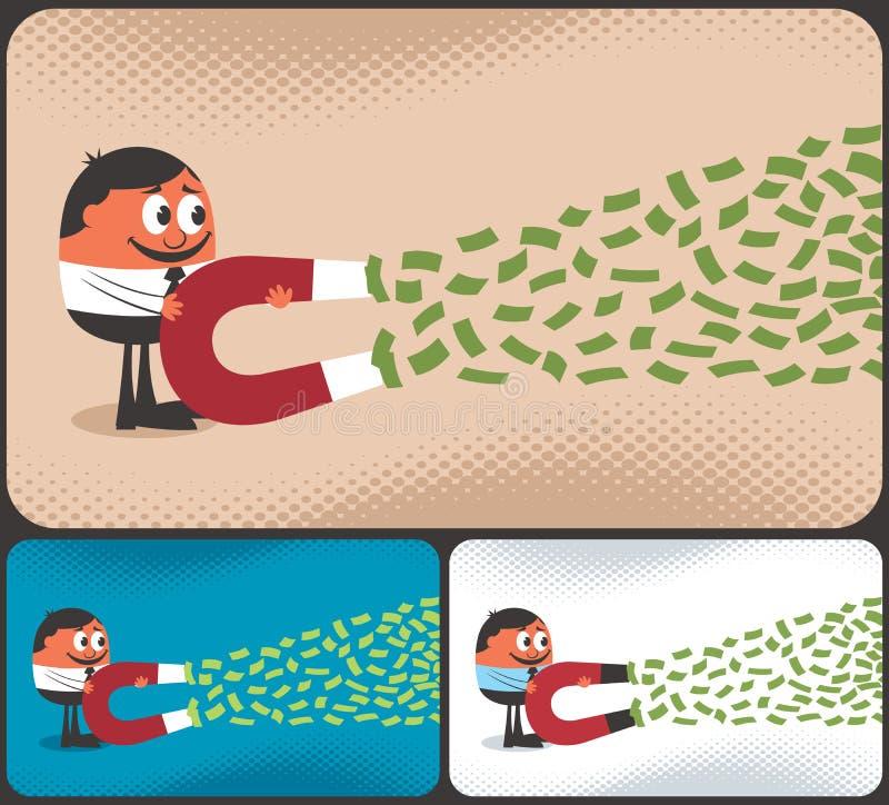 Pengarmagnet vektor illustrationer