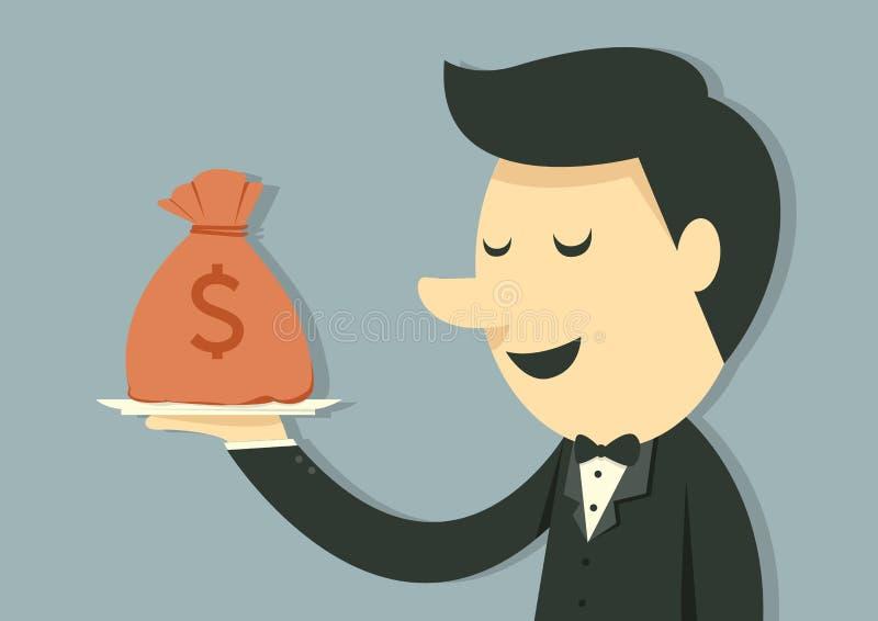 Pengarpåse royaltyfri illustrationer