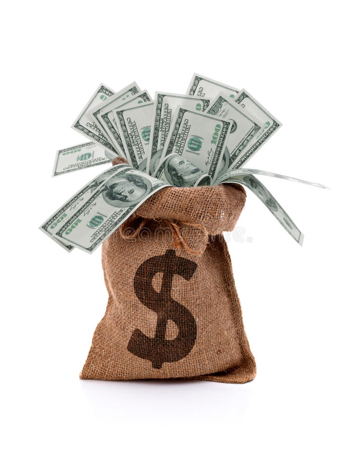 Pengarpåse royaltyfri fotografi