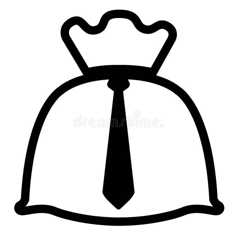 Pengarpåse med en slips royaltyfri illustrationer