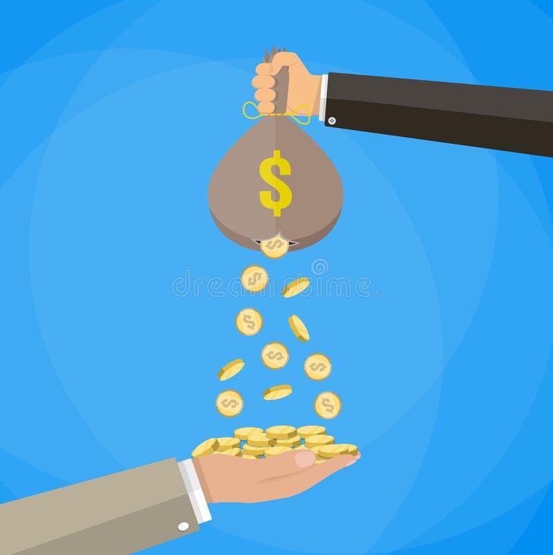 Pengarpåse med hålet vektor illustrationer