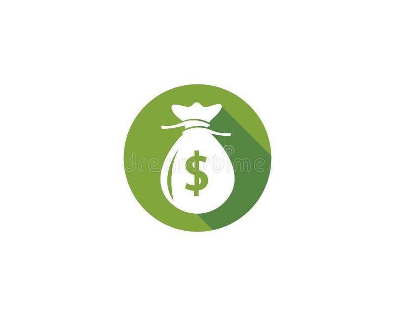 Pengarpåsesymbol vektor illustrationer