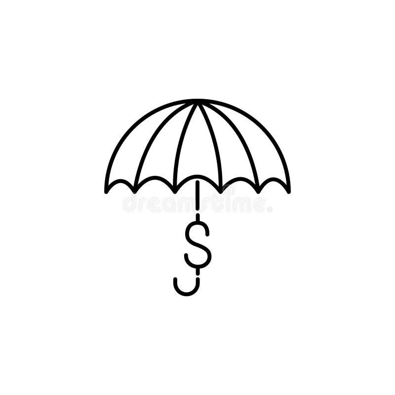 Pengarparaplysymbol Beståndsdel av den populära finanssymbolen Högvärdig kvalitets- grafisk design Tecken symbolsamlingssymbol fö royaltyfri illustrationer