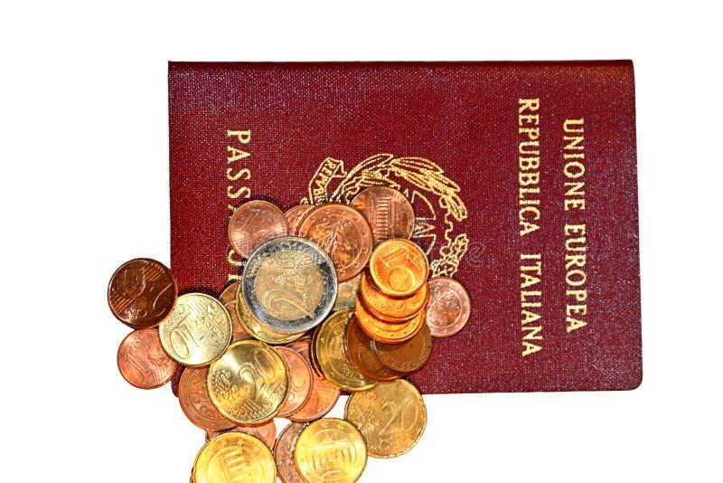 pengarpassaport arkivbild